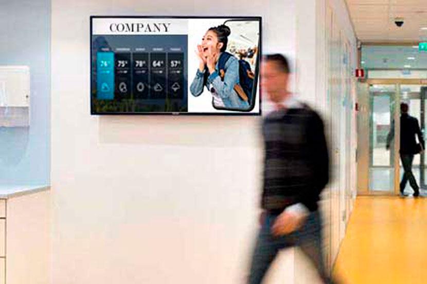 Digital signage for corporate communication