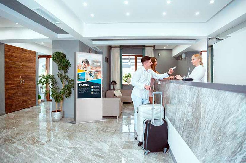 Digital signage for hotels