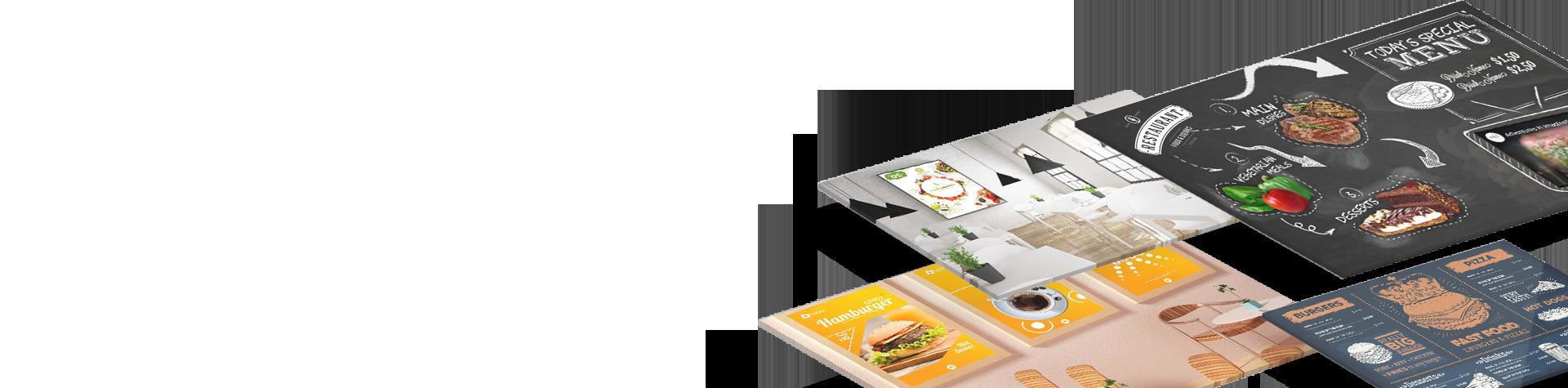Restaurant Café Bar digital signage solutions