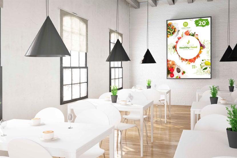 Digital signage for restaurants, cafés and bars